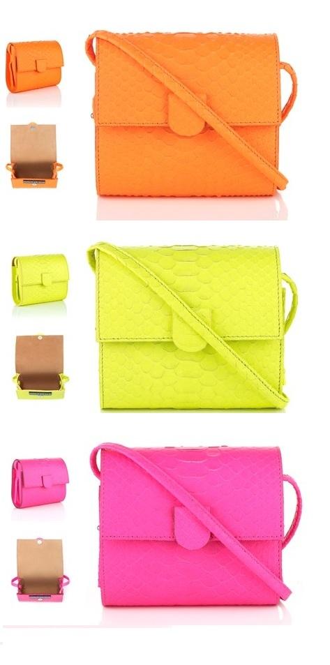 neon box bag