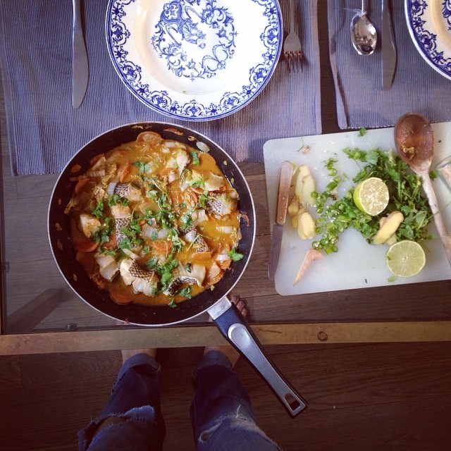 Madeliene Shaw fish curry